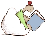 turtle and book
